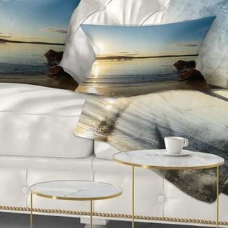Carter's East Urban Home Seashore Beach Nova Scotia Canada Lumbar Pillow East Urban Home