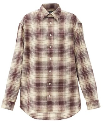 Raf Simons The Others Plaid Cotton-flannel Shirt - Brown White