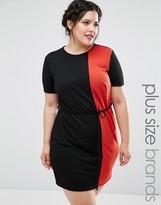 Club L Plus Color Block Shift Dress