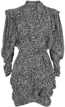 Isabel Marant Bruna Printed Silk Mini Dress