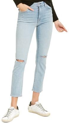 Hudson Barbara Worn Strangers High-Rise Crop Straight Leg Jean