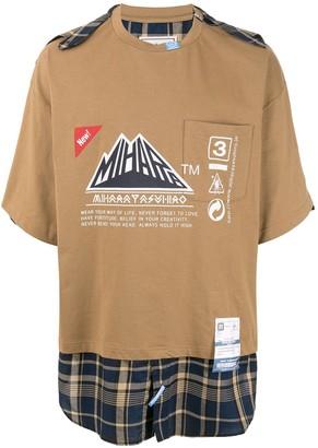 Puma Maison Yasuhiro plaid hem T-shirt