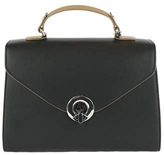 Armani Jeans Matte Color Blocked Eco Leather Top Handle Bag