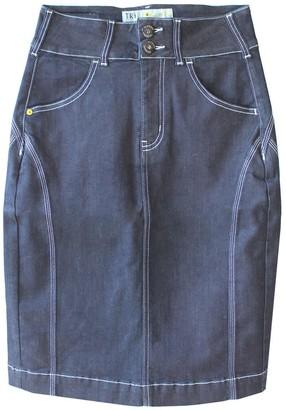 Tri Colour Federation Organic Cotton Manhattan Denim High Waisted Pencil Skirt