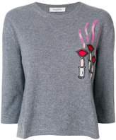 Valentino lipstick sweater