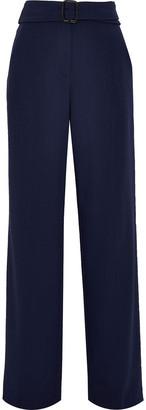 Derek Lam Belted Stretch-cady Wide-leg Pants