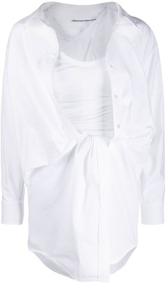 Alexander Wang draped shirt dress
