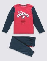 Marks and Spencer Pure Cotton Arsenal Football Pyjamas (3-16 Years)