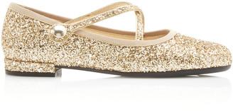 Miu Miu Glittered Ballet Flats