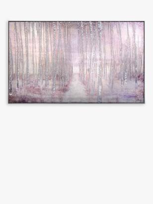 John Lewis & Partners Charlotte Oakley - Wistful Woods Framed Canvas, 62 x 102cm, Pink/Grey