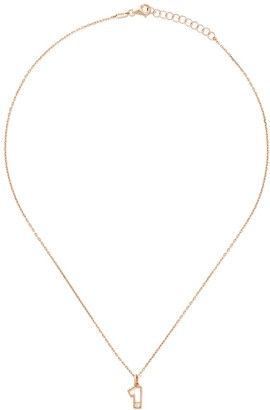 As 29 14kt rose gold diamond One necklace
