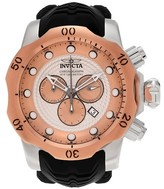 Invicta Men's 20442 Venom Quartz Chronograph Rose Gold Dial Strap Watch - Black