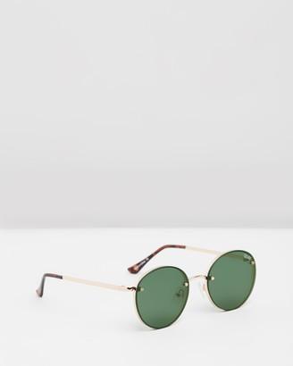 Quay x Elle Ferguson Farrah Gold Round Sunglasses