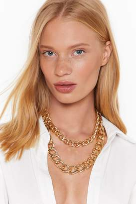 Nasty Gal Womens Chunky And Funky Layered Chain Necklace - Metallics - One Size