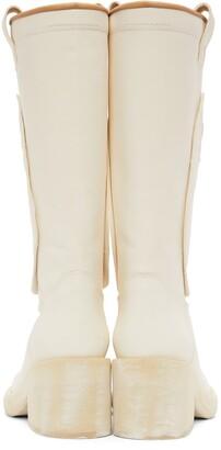 MM6 MAISON MARGIELA White Mid Heel Western Boots