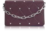 Alexander Wang Attica Biker Beet Leather Purse w/Ball Studs