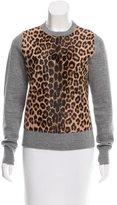 A.L.C. Leopard Print Wool Sweater