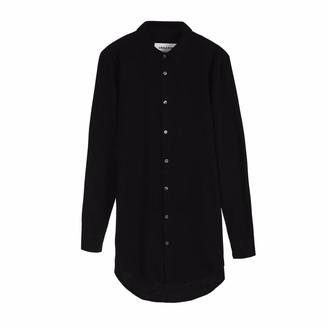 Circle Park Men's Longline Shirt In Black