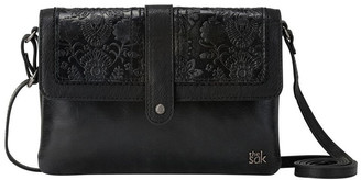 The Sak 108933BLA Loma Flap Over Crossbody Bag