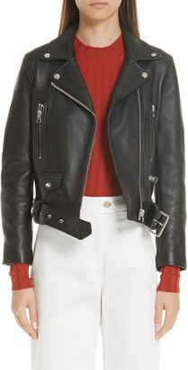 Acne Studios Mock Core Leather Moto Jacket