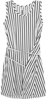 McQ by Alexander McQueen Striped Voile Mini Dress - White