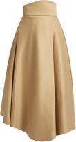 Awake Asymmetric double-faced cotton skirt