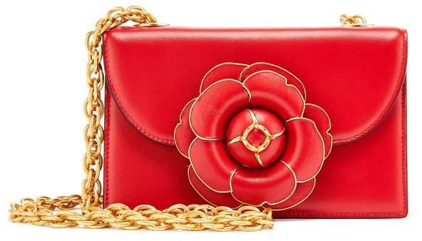 Oscar de la Renta Cayenne Leather Tro Bag
