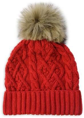 Parkhurst Country Faux Fur-Trim Cotton Beanie