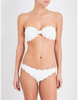 Marysia Swim Ladies Black Antibes Scalloped Bikini Top