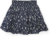 Ralph Lauren Floral Cotton Pull-On Skirt