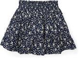 Ralph Lauren Floral Cotton Pull-On Skirt