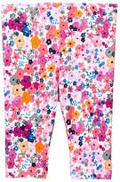 Joe Fresh Allover Floral Print Capri Legging (Baby Girls)