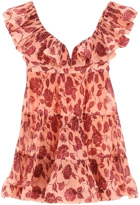 Zimmermann LOVESTRUCK PLEATED DRESS 1 Pink, Red