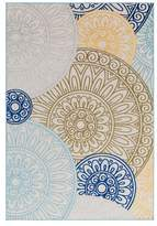 Surya Jolene Medallions and Damask Dark Blue, Bright Yellow Area Rug