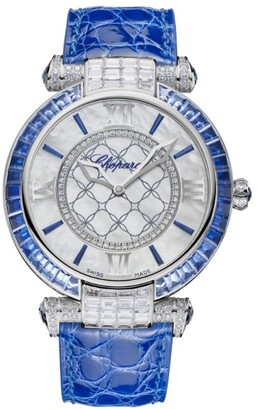 Chopard White Gold, Sapphires and Diamonds Imperiale Automatic Watch 40mm