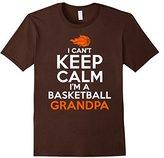 I Can't Keep Calm I'm A Basketball Grandpa T Shirt