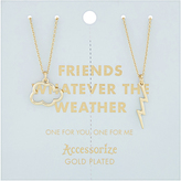 Accessorize Friends Whatever The Weather Tear & Share Necklaces
