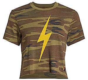 Aviator Nation Women's Camo Print Bolt T-Shirt