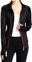 Isaac Mizrahi Women's Metallic Printed Track Jacket