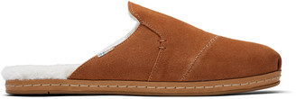 Toms Brown Suede Faux Fur Nova Women's Slippers