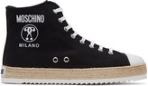Moschino Black Espadrille High-Top Sneakers