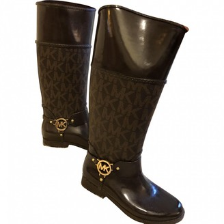 Michael Kors Brown Rubber Boots