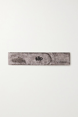 Slip The Glam Band Leopard-print Mulberry Silk Headband - Leopard print