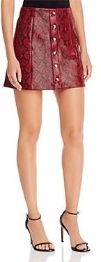 ASTR the Label Come Slither Snake Print Skirt