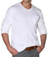 191 Unlimited Men's White V-neck Long-sleeve Tee