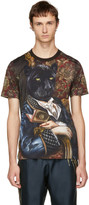 Dolce & Gabbana Multicolor Royal Panther T-Shirt