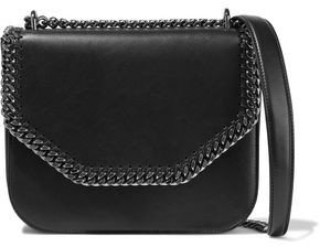 Stella McCartney Falabella Box Chain-trimmed Faux Leather Shoulder Bag