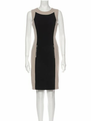 Calvin Klein Colorblock Pattern Mini Dress Black Colorblock Pattern Mini Dress