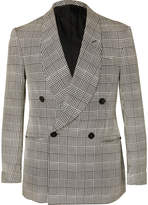 Ralph Lauren Purple Label - Slim-Fit Double-Breasted Prince of Wales Checked Silk Tuxedo Jacket
