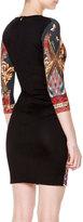 Just Cavalli 3/4-Sleeve Gypsy Knife Print Dress
